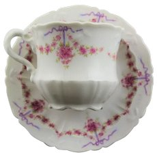 Pretty German & China Cup & Saucer