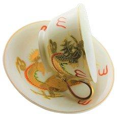 Spectacular Golden Dragon China Cup & Saucer