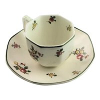 Old Leeds Royal Doulton Demitasse Cup Saucer & Plate