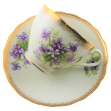 Japan Marked Violet Cup & Saucer
