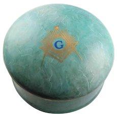 Large Masonic Symbol Trinket Box