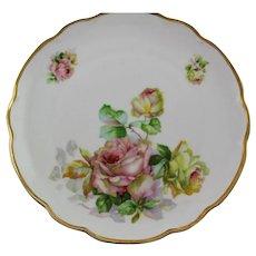 Signed Hand Painted Flower Furstenberg Plate