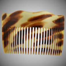 Beautiful Vintage Faux Tortoise Shell Hair Comb