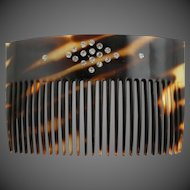 Outstanding Victorian Tortoise Colored Hair Comb