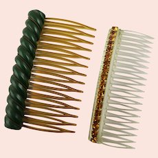 Two Different Vintage Hair Combs