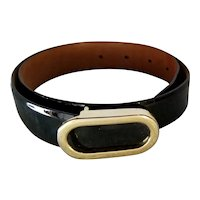 Ginnie Johansen Black Patent Leather Belt
