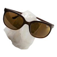 Famous Designer Bolle` Plastic Brown Sunglasses
