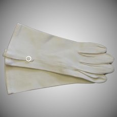 Vintage White Cloth Ladies Gloves