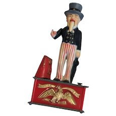 Uncle Sam Tin Lithographed Mechanical Bank