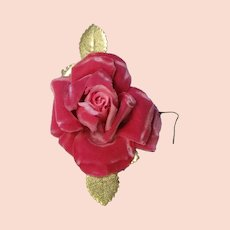 Beautiful Pink Velvet Rose Corsage