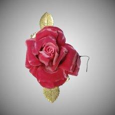 Beautiful Pink Velvet Rose Corsage
