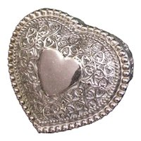 Heart Shaped Silver Plate Trinket Box