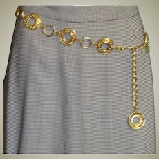 Vintage Gold Plated Chain Belt