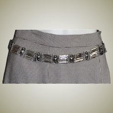Signed Silver Chain Belt In Sections