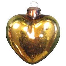 Gold Colored Heart Shaped Kugel