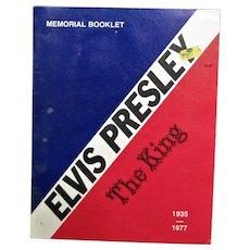 Vintage 1977 Magazine About Elvis's Life