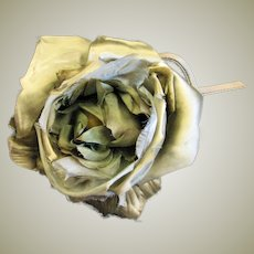 Extra Large Green Fabric Corsage