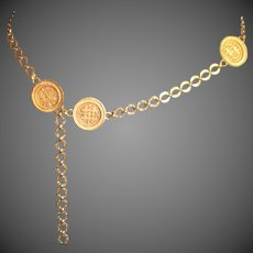 Vintage Medallion Chain Accessocraft Belt