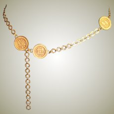 Vintage Medallion Chain Accessocraft Belt