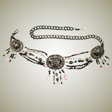 Amazing Maya Semi Precious Gems & Chain Belt