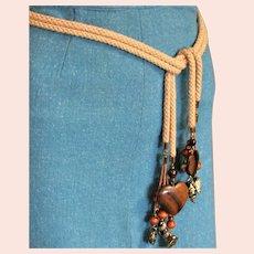 Les Bernard Designer Belt With Wood Heart