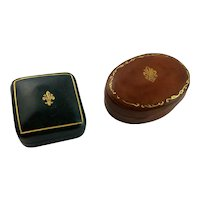 Two Italian Leather Miniature Boxes