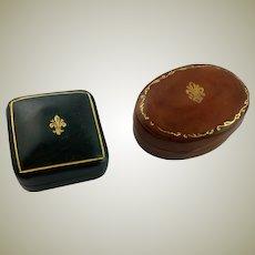 Two Italian Leather Miniature Boxes