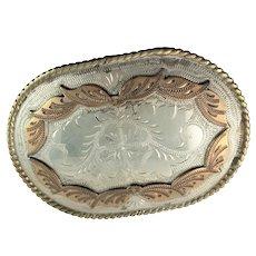 German Silver & Brass Kelly Buckles From Denver Co Belt Buckle