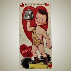 """Mid Century Fold Over """"Stand UP"""" Valentine"""