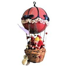 Quaint Hot Air Balloon Music Box