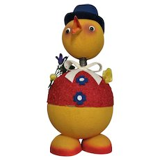 Extra Large German Paper Mache Duck Candy Container