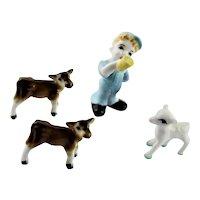 """Little Boy Blue"" Japanese Miniature Set"