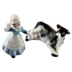 """Milk Maid"" Japanese Fine China Miniature"