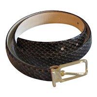 Fabulous Brown Snake Skin Belt