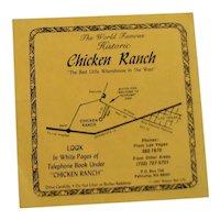 Fun Souvenir Menu From 'Chicken Ranch'