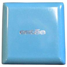 Vintage Estee New Powder Blue Plastic Box
