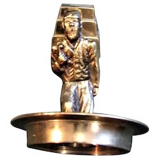 Solid Brass Asian Man Carrying Heavy Cargo