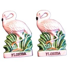 Florida Souvenir Flamingo S & P Shakers