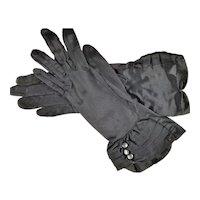 Lady Gay Navy Blue Nylon Labeled Gloves