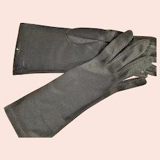Black Fabric Above Wrist Gloves