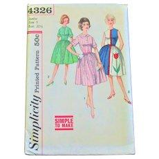 1960's Full Skirt Dress Sewing Patterns