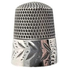 Sterling Marked Sewing Thimble
