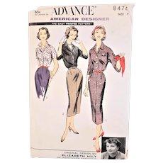Vintage Advance Sewing Dress Pattern