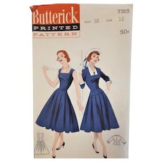 1950-60's Dress Sewing Pattern