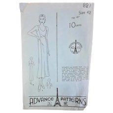 1940's Advance Slip Dress Sewing Pattern
