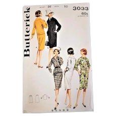 1960's Butterick Dress Sewing Pattern