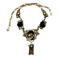 Amazing Renaissance Style Necklace & Matching Earrings