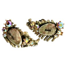 Spectacular Har Dragon Tooth & Aurora Borealis Earrings