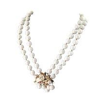 Beautiful White Glass Designer Necklace