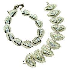 Beautiful Vintage BSK Choker Necklace & Earrings Set